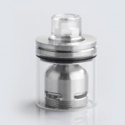 Coppervape Skyline Drop Kit w/ Drip Tip + Tank for Skyline Style RTA - Transparent + Silver, 316 Stainless Steel + PC