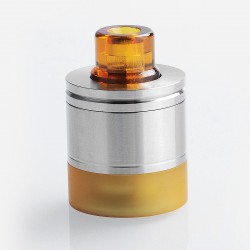 Coppervape Skyline Drop Kit w/ Drip Tip + Tank for Skyline Style RTA - Brown + Silver, 316 Stainless Steel + PEI
