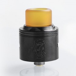 Authentic Coppervape Hippo RDA Rebuildable Dripping Atomizer w/ BF Pin - Black, 316 Stainless Steel, 24mm Diameter