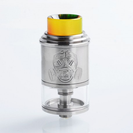 Apocalypse Mechlyfe Style RDTA Rebuildable Dripping Tank Atomizer - Silver, Stainless Steel, 3.5ml, 24mm Diameter