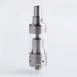 LieFeng KF Mini V3 Style RTA Rebuildable Tank Atomizer - Silver, 316 Stainless Steel + Glass, 2ml, 19mm Diameter