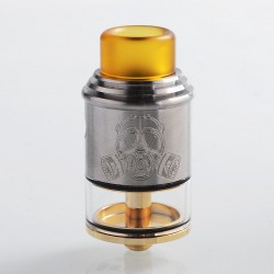 Apocalypse GEN 2 Style RDTA Rebuildable Dripping Tank Atomizer - Silver, Stainless Steel + Brass, 2ml, 24mm Diameter
