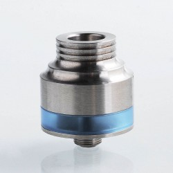 AP Vector Style RDTA Rebuildable Dripping Tank Atomizer - Silver, 316 Stainless Steel, 22mm Diameter, 1.4ml