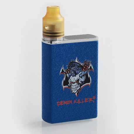 Authentic Demon Killer Tiny 800mAh Mod + RDA Kit - Blue, Zinc Alloy + PEI + Stainless Steel, 14mm Diameter