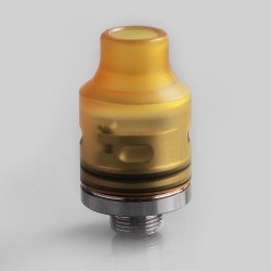 Authentic Demon Killer Tiny RDA Rebuildable Dripping Atomizer w/ BF Pin - Yellow, PEI + Stainless Steel, 14mm Diameter