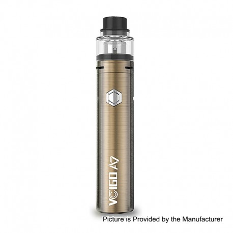 Authentic Sigelei Vcigo A7 3000mAh Starter Kit - Brass, Brass + Stainless Steel, 0.2 Ohm, 2ml, 24.5mm Diameter