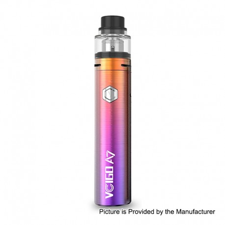 Authentic Sigelei Vcigo A7 3000mAh Starter Kit - Rainbow, Brass + Stainless Steel, 0.2 Ohm, 2ml, 24.5mm Diameter