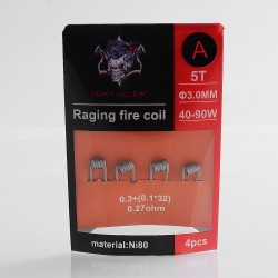 Authentic Demon Killer Raging Fire Coil A Ni80 Heating Wire - 0.3 + (0.1 x 32), 0.27 Ohm (4 PCS)