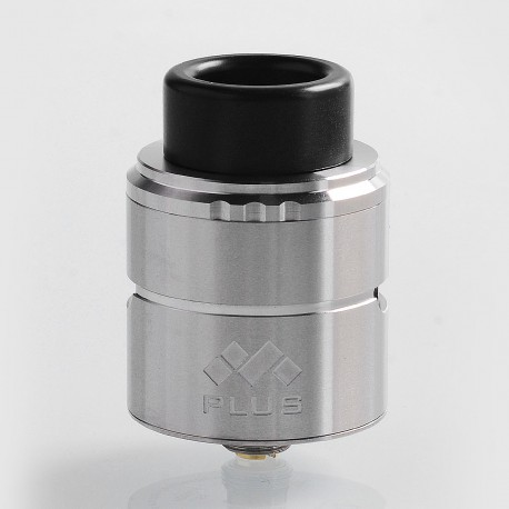 Authentic Vapefly Mesh Plus RDA Rebuildable Dripping Atomizer w/ BF Pin - Silver, Stainless Steel, 25mm Diameter