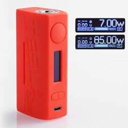 Authentic Tesla WYE 85W TC VW Variable Wattage Box Mod - Red, ABS + PC, 7~85W, 1 x 18650