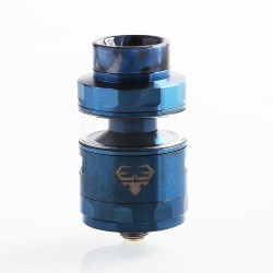 Authentic GeekVape Blitzen RTA Rebuildable Tank Atomizer Standard Edition - Blue, Stainless Steel, 5ml, 24mm Diameter