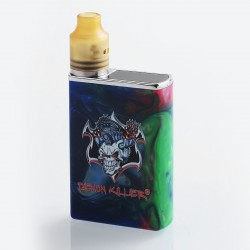 Authentic Demon Killer Tiny 800mAh Mod + RDA Kit - Blue, Resin + PEI + Stainless Steel, 14mm Diameter