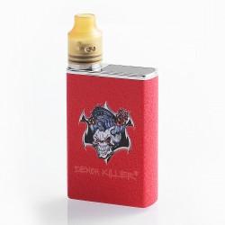 Authentic Demon Killer Tiny 800mAh Mod + RDA Kit - Red, Zinc Alloy + PEI + Stainless Steel, 14mm Diameter