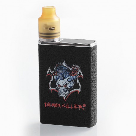 Authentic Demon Killer Tiny 800mAh Mod + RDA Kit - Black, Zinc Alloy + PEI + Stainless Steel, 14mm Diameter
