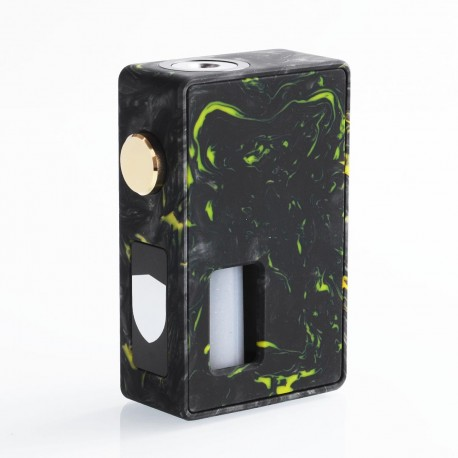 Authentic VBS Iron Surface Squonk Mechanical Box Mod - Black + Yellow, Resin, 7ml, 1 x 18650 / 20700