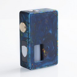 Authentic VBS Iron Surface Squonk Mechanical Box Mod - Blue, Resin, 7ml, 1 x 18650 / 20700