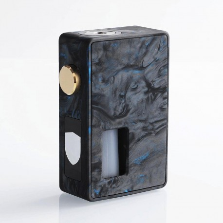 Authentic VBS Iron Surface Squonk Mechanical Box Mod - Black + Blue, Resin, 7ml, 1 x 18650 / 20700