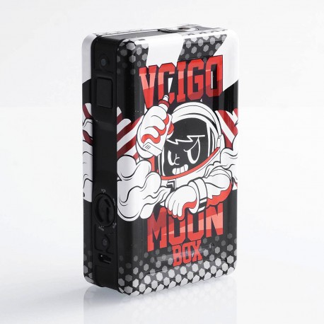 Authentic Sigelei Vcigo Moon Box 200W Box Mod - Black + Black Skull, Tinplate + PC + ABS, 2 x 18650