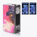 Authentic Aleader Funky 160W TC VW Variable Wattage Box Mod - Gun Metal + Random Color, SS + Stabilized Wood, 5~160W, 2 x 18650