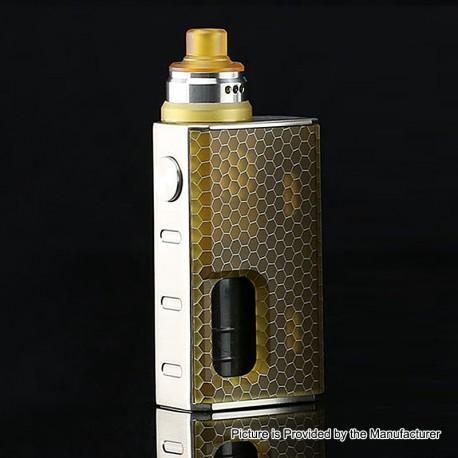 Authentic Wismec Luxotic 100W Squonk Box Mod + Tobhino BF RDA Kit - Honeycomb Resin, 7.5ml, 1 x 18650, 22mm Diameter