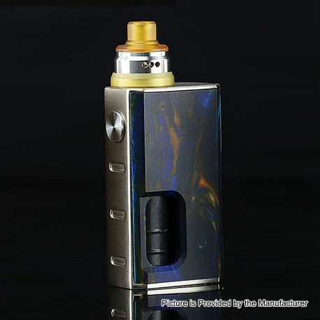 Authentic Wismec Luxotic 100W Squonk Box Mod + Tobhino BF RDA Kit - Swirled Metallic Resin, 7.5ml, 1 x 18650, 22mm Diameter