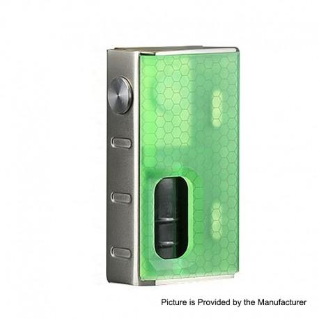 Authentic Wismec Luxotic 100W Squonk Box Mod - Green Honeycomb, 7.5ml, 1 x 18650