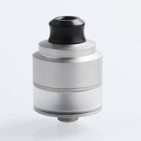 Authentic GAS Mods Nixon V1.0 RDTA Rebuildable Dripping Tank Atomizer w/ BF Pin - Silver, Stainless Steel, 2ml, 22mm Diameter
