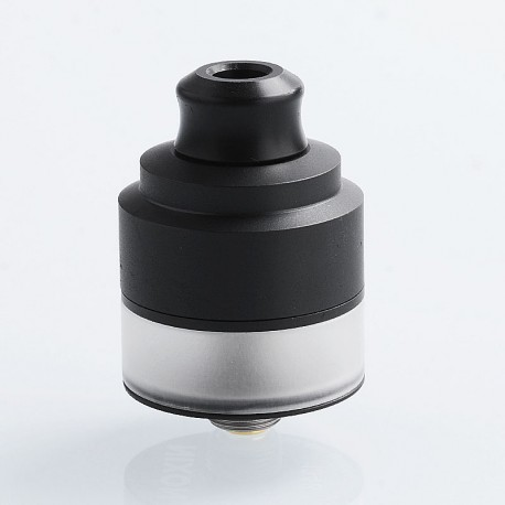 Authentic GAS Mods Nixon V1.0 RDTA Rebuildable Dripping Tank Atomizer w/ BF Pin - Black, Stainless Steel, 2ml, 22mm Diameter