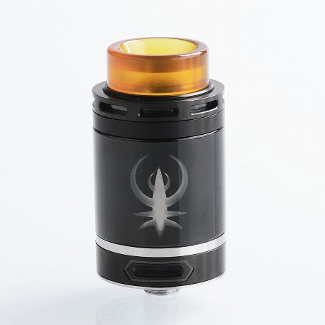 Authentic Smokjoy Fat Kaiser RTA Rebuildable Tank Atomizer - Black, Stainless Steel, 3ml, 24mm Diameter