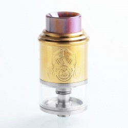 Apocalypse Mechlyfe Style RDTA Rebuildable Dripping Tank Atomizer - Gold, Stainless Steel, 3.5ml, 24mm Diameter