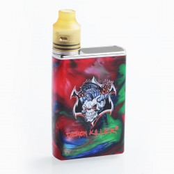 Authentic Demon Killer Tiny 800mAh Mod + RDA Kit - Red, Resin + PEI + Stainless Steel, 14mm Diameter
