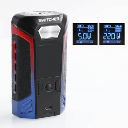 Authentic Vaporesso Switcher 220W TC VW Variable Wattage Box Mod - Blue + Red, Zinc Alloy, 2 x 18650
