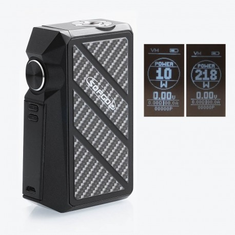 Authentic Sofgod Attila 218W TC VW Variable Wattage Box Mod - Black, Zinc Alloy, 10~218W, 2 x 18650