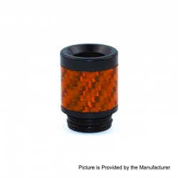 810 Replacement Drip Tip for TFV8 / TFV12 Tank / 528 Goon / Kennedy / Reload RDA - Orange, Carbon Fiber + POM, 22mm