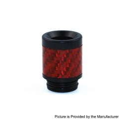 810 Replacement Drip Tip for TFV8 / TFV12 Tank / 528 Goon / Kennedy / Reload RDA - Red, Carbon Fiber + POM, 22mm