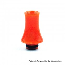 510 Replacement Drip Tip for RDA / RTA / Sub Ohm Tank - Orange, Epoxy Resin, 26mm