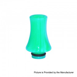 510 Replacement Drip Tip for RDA / RTA / Sub Ohm Tank - Green, Epoxy Resin, 26mm
