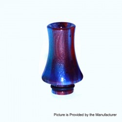 510 Replacement Drip Tip for RDA / RTA / Sub Ohm Tank - Blue + Purple, Epoxy Resin, 26mm