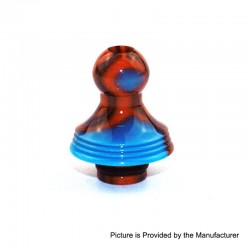 510 Replacement Drip Tip for RDA / RTA / Sub Ohm Tank - Orange + Blue, Epoxy Resin, 22.7mm
