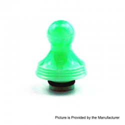 510 Replacement Drip Tip for RDA / RTA / Sub Ohm Tank - Green, Epoxy Resin, 22.7mm