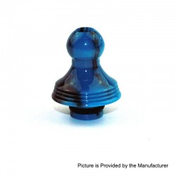510 Replacement Drip Tip for RDA / RTA / Sub Ohm Tank - Blue + Black, Epoxy Resin, 22.7mm
