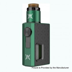 Authentic GeekVape Athena Squonk Mechanical Box Mod + BF RDA Squonker Kit - Green + Gun Metal, 6.5ml, 1 x 18650