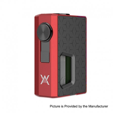 Authentic GeekVape Athena Squonk Mechanical Box Mod - Red + Gun Metal, Aluminum, 6.5ml, 1 x 18650