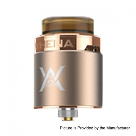 Authentic GeekVape Athena Squonk RDA Rebuildable Dripping Atomizer w/ BF Pin - Champagne Gold, Stainless Steel, 24mm Diameter