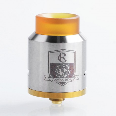 Authentic IJOY Combo RDA Triangle Rebuildable Dripping Atomizer w/ BF Pin - Silver, Stainless Steel, 25mm Diameter
