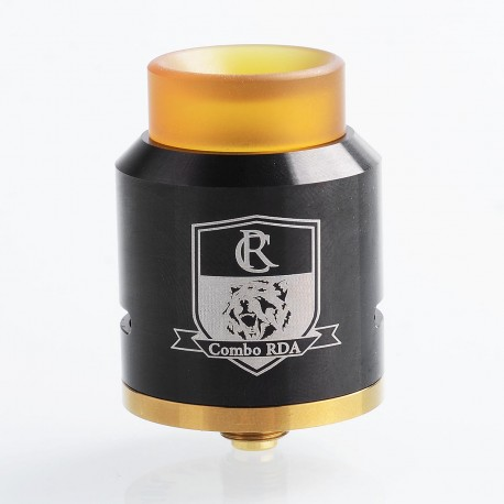 Authentic IJOY Combo RDA Triangle Rebuildable Dripping Atomizer w/ BF Pin - Black, Stainless Steel, 25mm Diameter