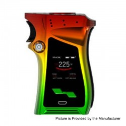 Authentic SMOKTech SMOK Mag 225W TC VW Variable Wattage Mod Right-Handed Edition - Red Rasta Color, 6~225W, 2 x 18650