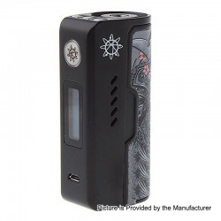 Authentic Dovpo Rogue 100W TC VW Variable Wattage Box Mod - Black Dragon Warrior, Zinc Alloy, 5~100W, 1 x 18650 / 26650