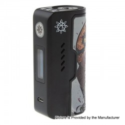 Authentic Dovpo Rogue 100W TC VW Variable Wattage Box Mod - Black Enchantress, Zinc Alloy, 5~100W, 1 x 18650 / 26650