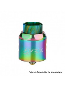 Authentic Timesvape APEX RDA Rebuildable Dripping Atomizer w/ BF Pin - Rainbow, Stainless Steel, 25mm Diameter
